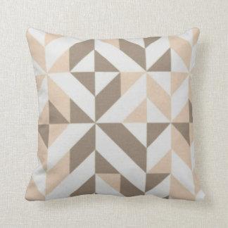 Almofada Travesseiro Peachy/bege de Brown do art deco do
