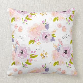 Almofada Travesseiro Peachy da ameixa da flor de Indy