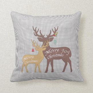 Almofada Travesseiro pequeno de Bell do Natal dos cervos