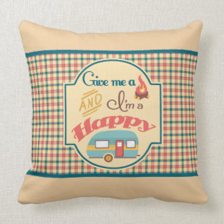 Almofada Travesseiro personalizado do campista feliz (Tan &