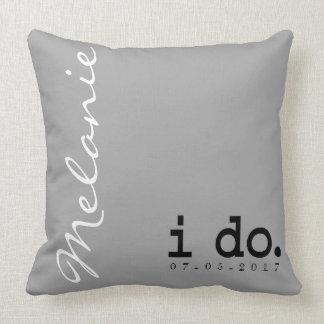 Almofada Travesseiro personalizado do casamento - eu faço.