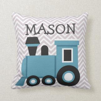 Almofada Travesseiro personalizado dos meninos trem azul