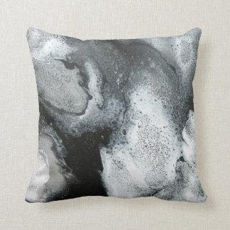 Almofada Travesseiro preto & do branco do abstrato