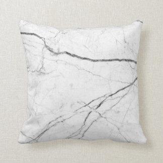 Almofada Travesseiro preto e branco do olhar de mármore