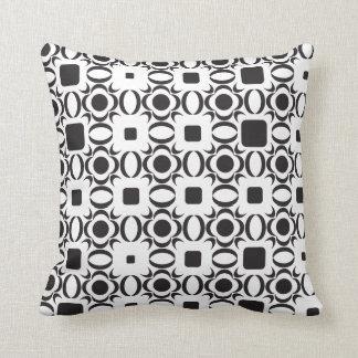Almofada Travesseiro preto e branco do teste padrão