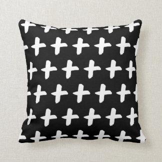 Almofada Travesseiro preto e branco transversal da escova