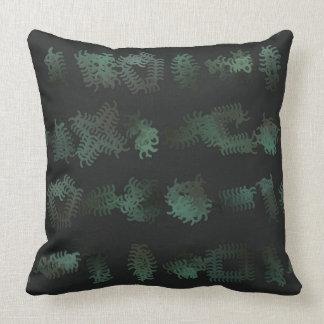 Almofada Travesseiro preto e verde dos Squiggles