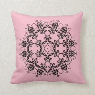 Almofada Travesseiro projetado do damasco flor cor-de-rosa
