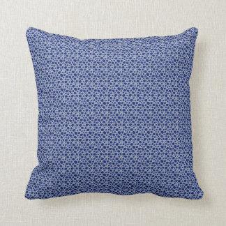 Almofada Travesseiro puro do teste padrão dos azuis das