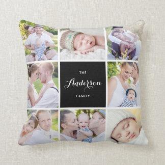 Almofada Travesseiro quadrado da colagem da foto de família