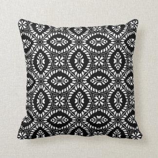Almofada Travesseiro retro branco preto do impressão do