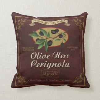 Almofada Travesseiro retro da arte da etiqueta das
