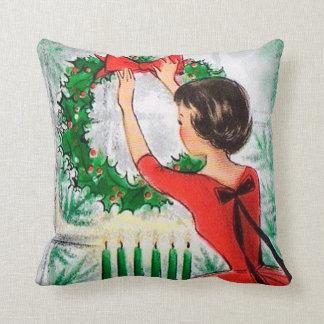 Almofada Travesseiro retro da decoração da grinalda da