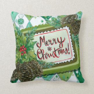 Almofada Travesseiro retro da decoração do Natal do