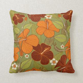 Almofada Travesseiro retro da flor