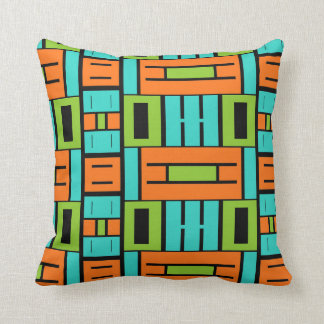 Almofada Travesseiro retro do bloco da cor