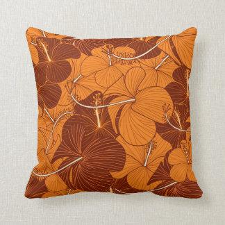Almofada Travesseiro retro do teste padrão de flor do