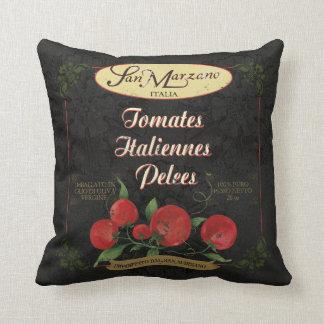Almofada Travesseiro retro italiano preto da arte da
