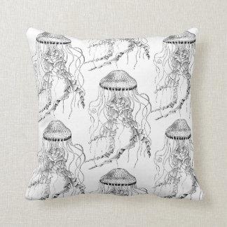 Almofada Travesseiro reversível das medusa em preto e