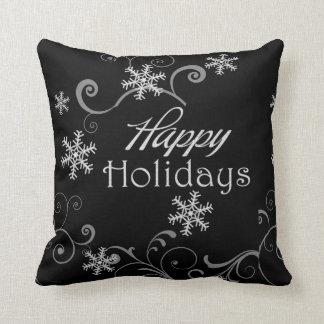 Almofada Travesseiro reversível preto & branco clássico do
