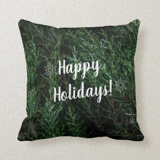 Almofada Travesseiro rico do acento do Natal do verde