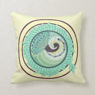 Almofada Travesseiro roxo da decoração da arte do pavão de