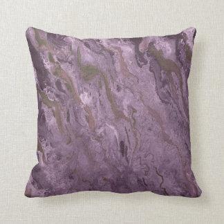 Almofada Travesseiro roxo da lavagem da aguarela