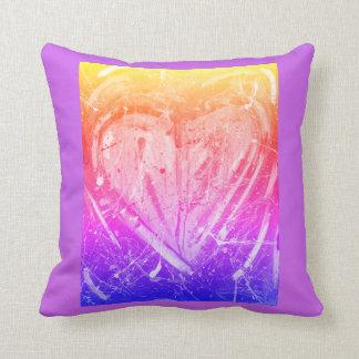 Almofada Travesseiro roxo do coração do amor