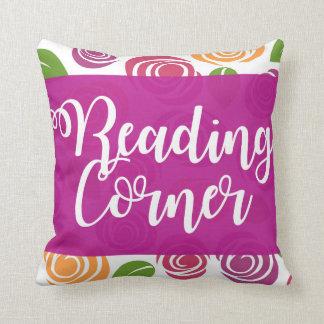 Almofada Travesseiro roxo do impressão do rosa do canto da