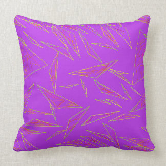 Almofada Travesseiro roxo dos triângulos