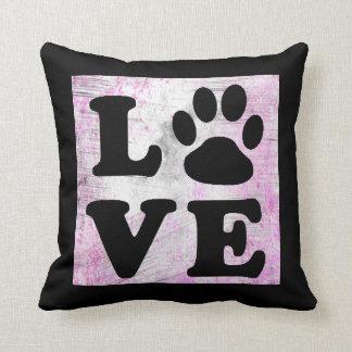 Almofada Travesseiro roxo e preto do gato do cão do