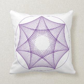 Almofada Travesseiro roxo geométrico da estrela