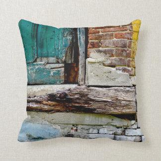 Almofada Travesseiro rústico do vintage do tijolo e da