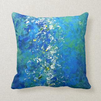 Almofada Travesseiro subaquático contemporâneo azul