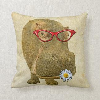 Almofada Travesseiro tão bonito do Hippopotamus!