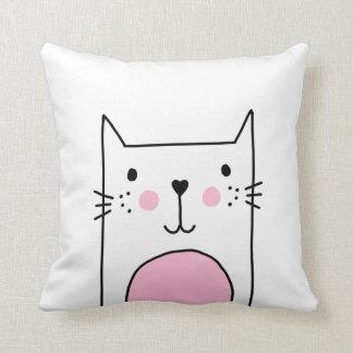 Almofada Travesseiro tirado do desenho do gato mão bonito &