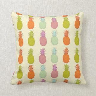Almofada Travesseiro tropical colorido do abacaxi do marfim