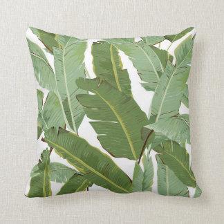 Almofada Travesseiro tropical das folhas da banana