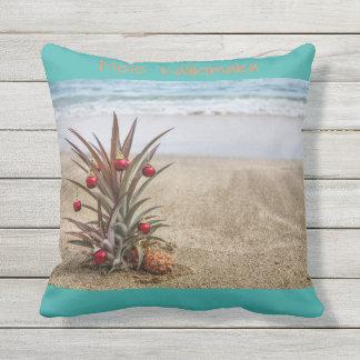 Almofada Travesseiro tropical do Natal do abacaxi da praia