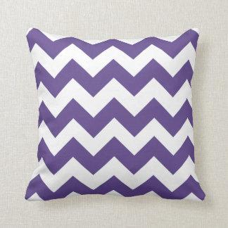 Almofada Travesseiro ultravioleta e branco das listras de