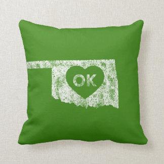 Almofada Travesseiro usado do estado de Oklahoma do amor de