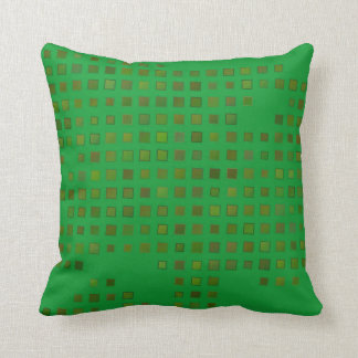 Almofada Travesseiro verde e amarelo dos quadrados