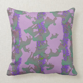 Almofada Travesseiro verde e roxo dos cães