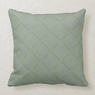 Almofada Travesseiro verde empoeirado da grade