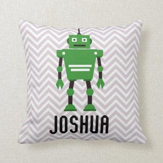 Almofada Travesseiro verde personalizado do robô dos