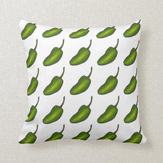 Almofada Travesseiro verde picante das pimentas da pimenta