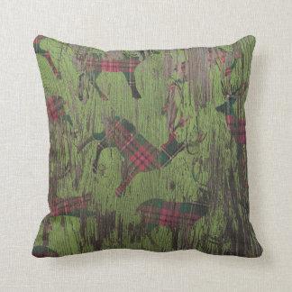 Almofada Travesseiro verde rústico do inverno do feriado da