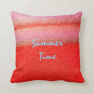 """Almofada Travesseiro vermelho 16"""" das horas de verão x 16"""""""