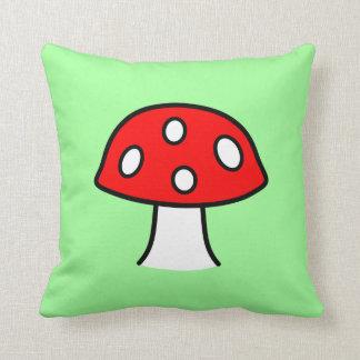 Almofada Travesseiro vermelho do cogumelo