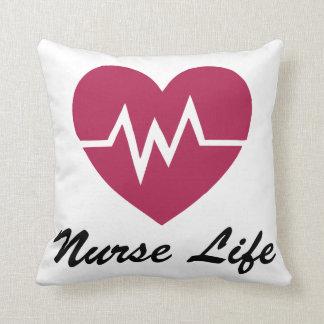 Almofada Travesseiro vermelho do coração da vida EKG da